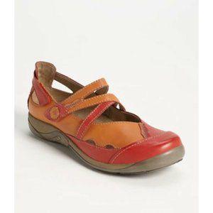 Romika Gina 04 Leather Flat Shoes Womens Sz 41 10 10.5 Mart Jane Shock Absorbing